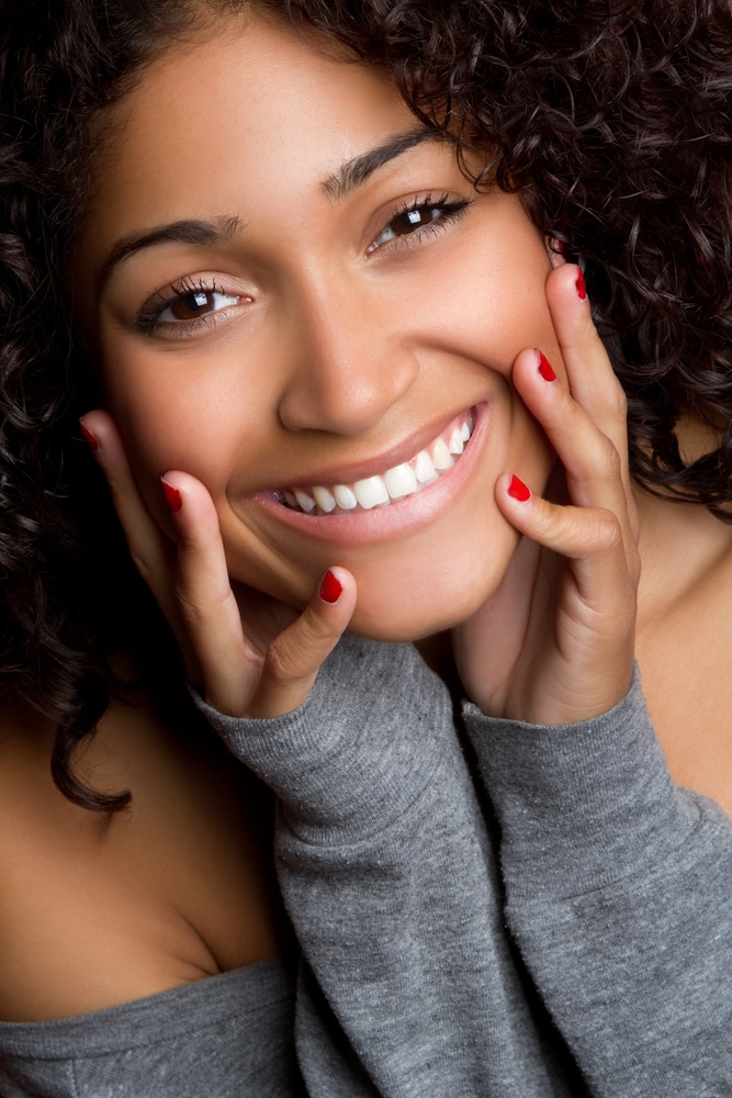 Beautiful smiling black woman portrait